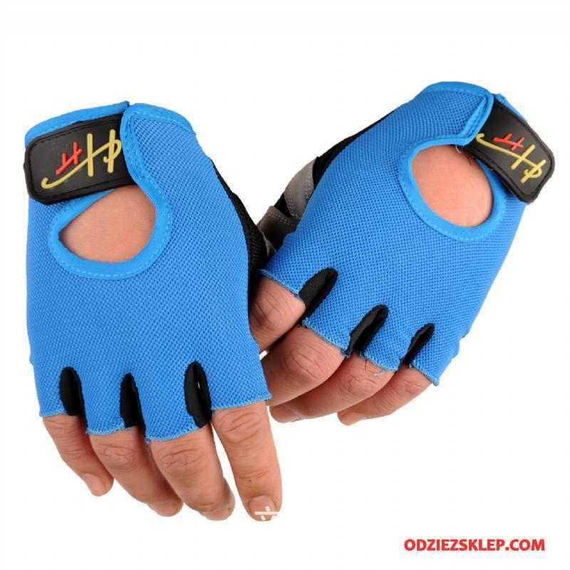 Męskie Rękawiczki Lato Fitness Dziewczynka Instrumenty Antypoślizgowe Jazdy Niebieski Kupię