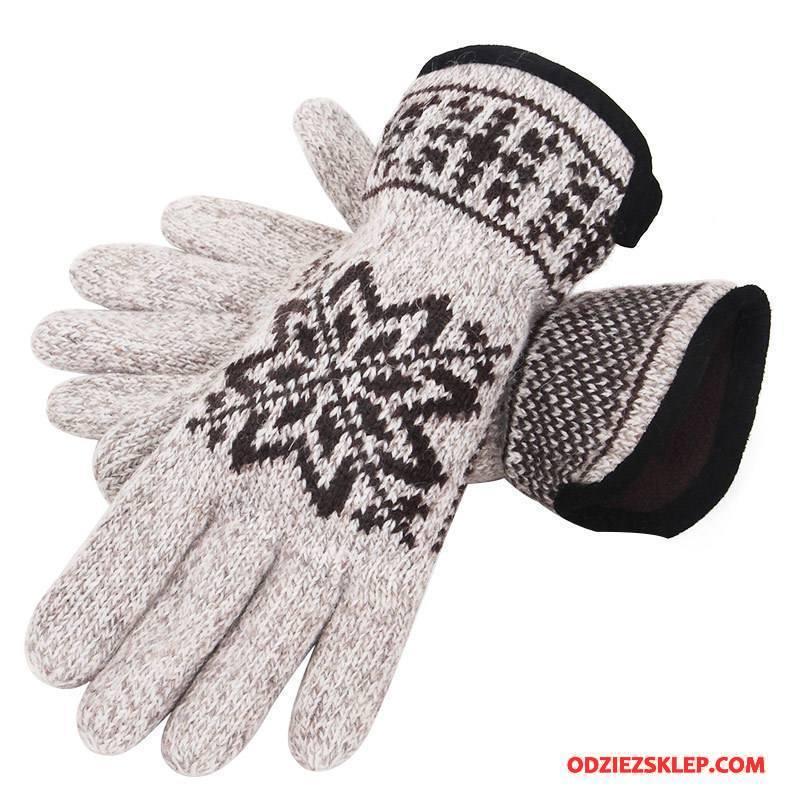 Męskie Rękawiczki Męska Kaszmir Utrzymuj Ciepło Wełna Outdoor Zima Beżowy Biały Kup