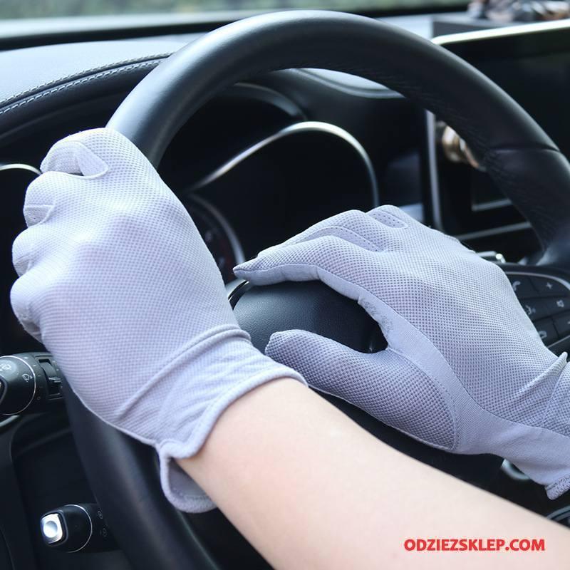 Męskie Rękawiczki Męska Ochrona Przed Słońcem Antypoślizgowe Ekran Dotykowy Lato Dla Kierowców Jasny Niebieski Fioletowy Online
