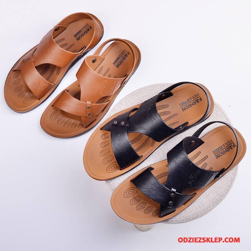 Męskie Sandały Antypoślizgowe Męska Plażowe Buty Wodoodporny Lato Czarny Online
