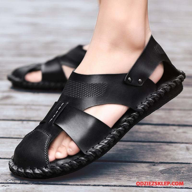 Męskie Sandały Lato Buty Tendencja Osobowość Męska Casual Czarny Tanie