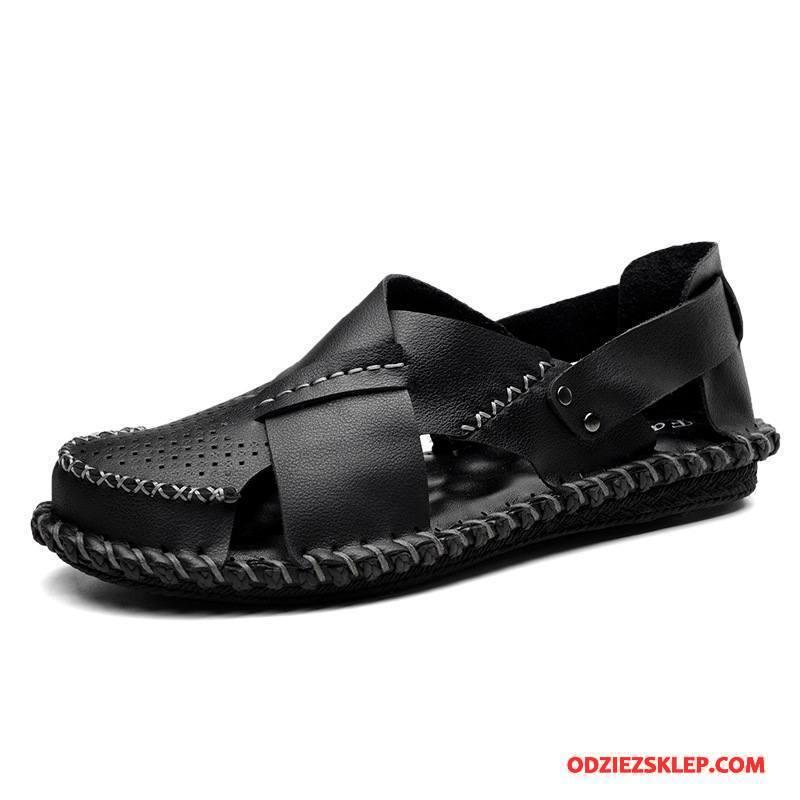 Męskie Sandały Plażowe Moda Wiosna Męska Casual Lato Czarny Sprzedam