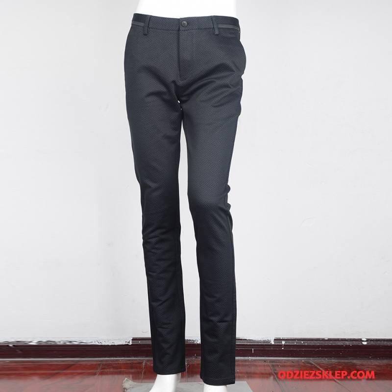Męskie Spodnie Garniturowe Casualowe Spodnie Bawełna Biznes Męska Jesień Moda Szary Na Sprzedaż