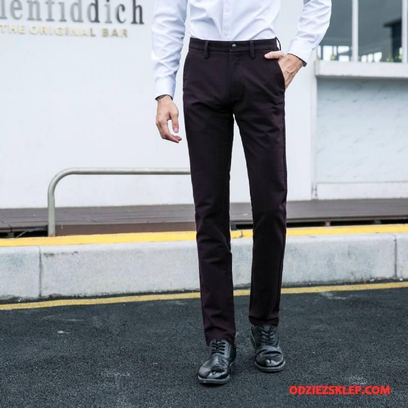 Męskie Spodnie Garniturowe Jesień Mały Biznes Męska Casual Moda Czarny Sprzedam