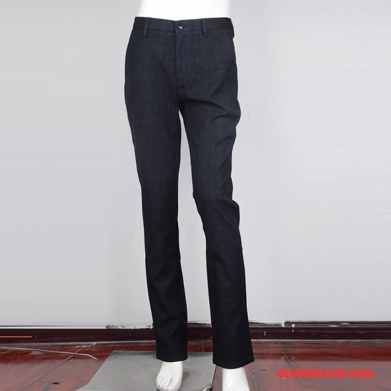 Męskie Spodnie Garniturowe Męska Jesień 2018 Bawełna Moda Młodzież Niebieski Czarny Sprzedam