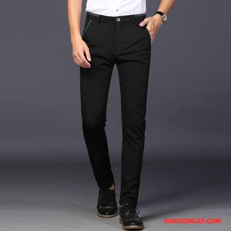 Męskie Spodnie Garniturowe Nowy Młodzież 2018 Cienkie Męska Casualowe Spodnie Czarny Sprzedam