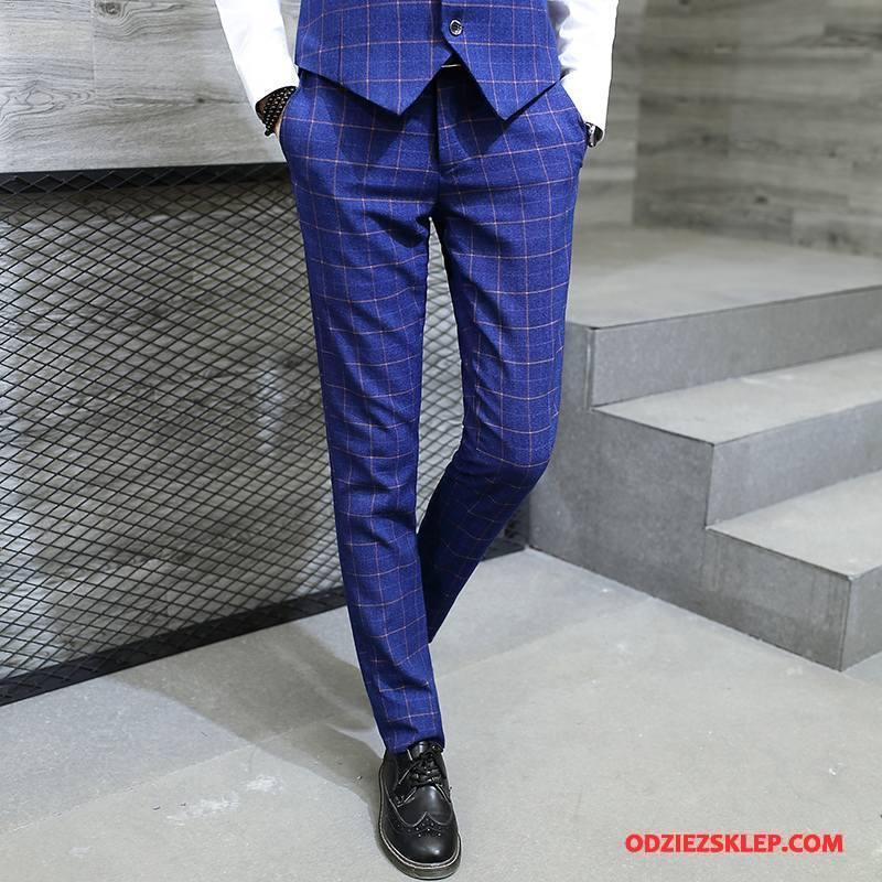 Męskie Spodnie Garniturowe Nowy Tendencja Biznes Wiosna Biurowe Casualowe Spodnie Niebieski Kupię