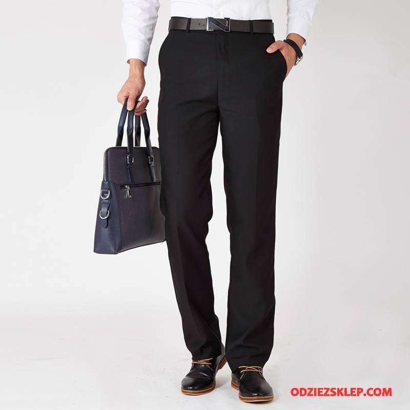 Męskie Spodnie Garniturowe Sukienka Czarny Sklep