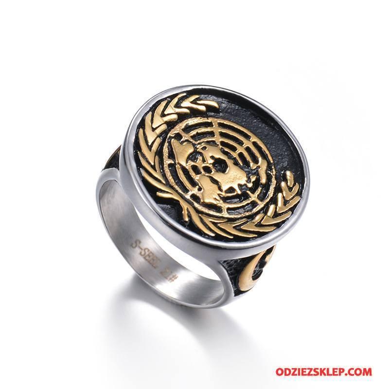 Męskie Srebrna Biżuteria Akcesoria Twórczy Odznaka Vintage Osobowość Męska Złoty Srebrny Tanie