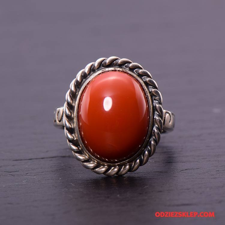 Męskie Srebrna Biżuteria Męska Naturalny Prezent Akcesoria Damska Moda Srebrny Czerwony Tanie