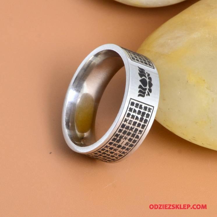 Męskie Srebrna Biżuteria Męska Serce Trendy Osobowość Złoty Kupię