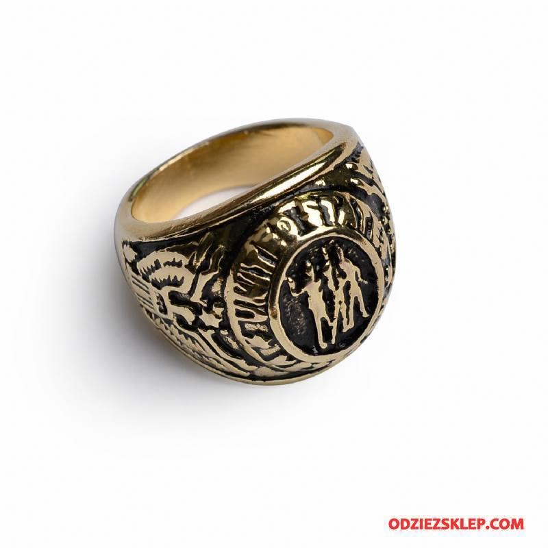 Męskie Srebrna Biżuteria Moda Europa Męska Szyk Złoty Srebrny Sklep