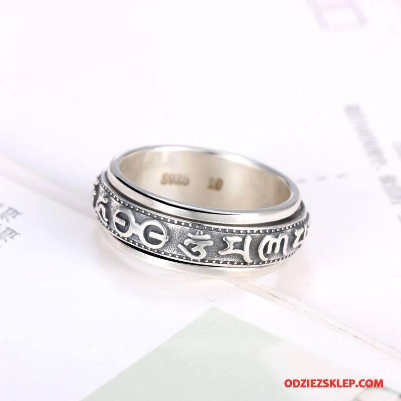 Męskie Srebrna Biżuteria Osobowość Pure Akcesoria Męska Vintage Srebrny Sprzedam