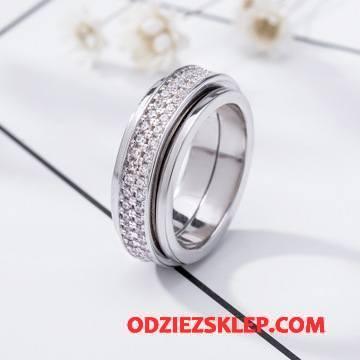 Męskie Srebrna Biżuteria Z Kryształkami Męska Moda Europa Wielki Ślubna Sklep