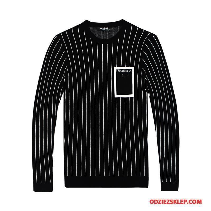 Męskie Swetry Sweter 2018 Nowy Czarny Tanie