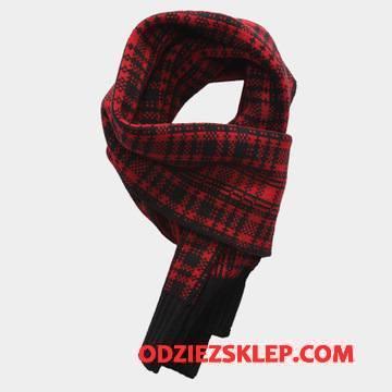 Męskie Szalik Śliniaczek Męska Wełna Etniczny Osobowość Moda Czarny Czerwony Sklep